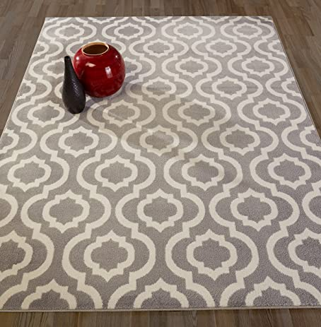 Diagona Designs Contemporary Moroccan Trellis Design 8 By 10 Area Rug,  94u0026quot; L X 114u0026quot