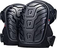 NoCry Professional Knee Pads with Heavy Duty Foam Padding and Comfortable Gel Cushion, Strong Double Straps and Adjustable E