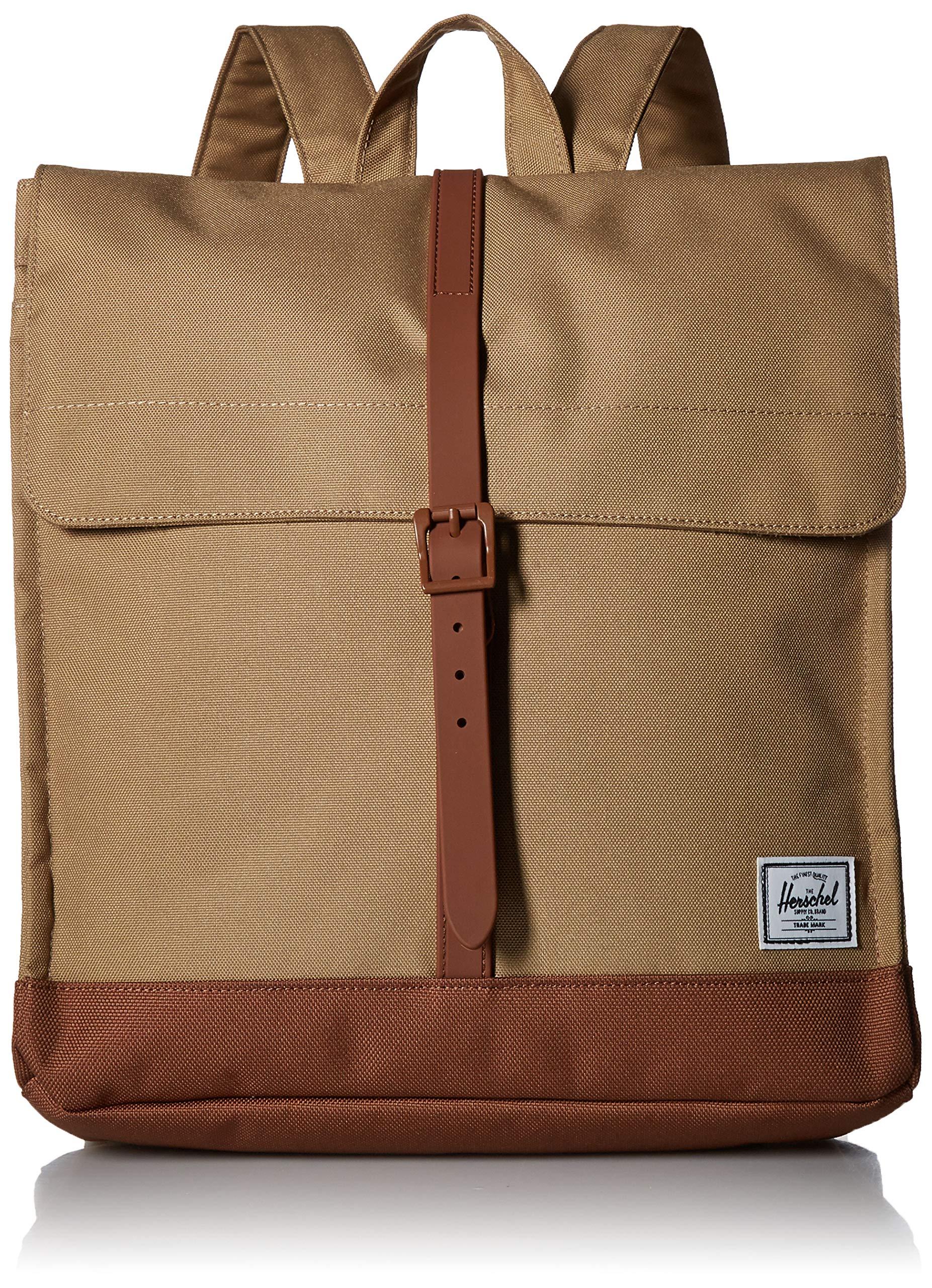 Herschel City Mid-Volume Backpack Kelp/Saddle Brown One Size