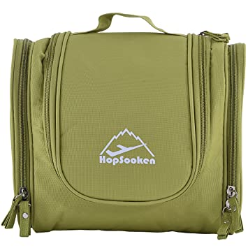 6288b6515625 Amazon.com   Hopsooken Portable Hanging Toiletry Bag Travel Organizer  Cosmetic Bag for Women Makeup Men Shaving Kit   Beauty