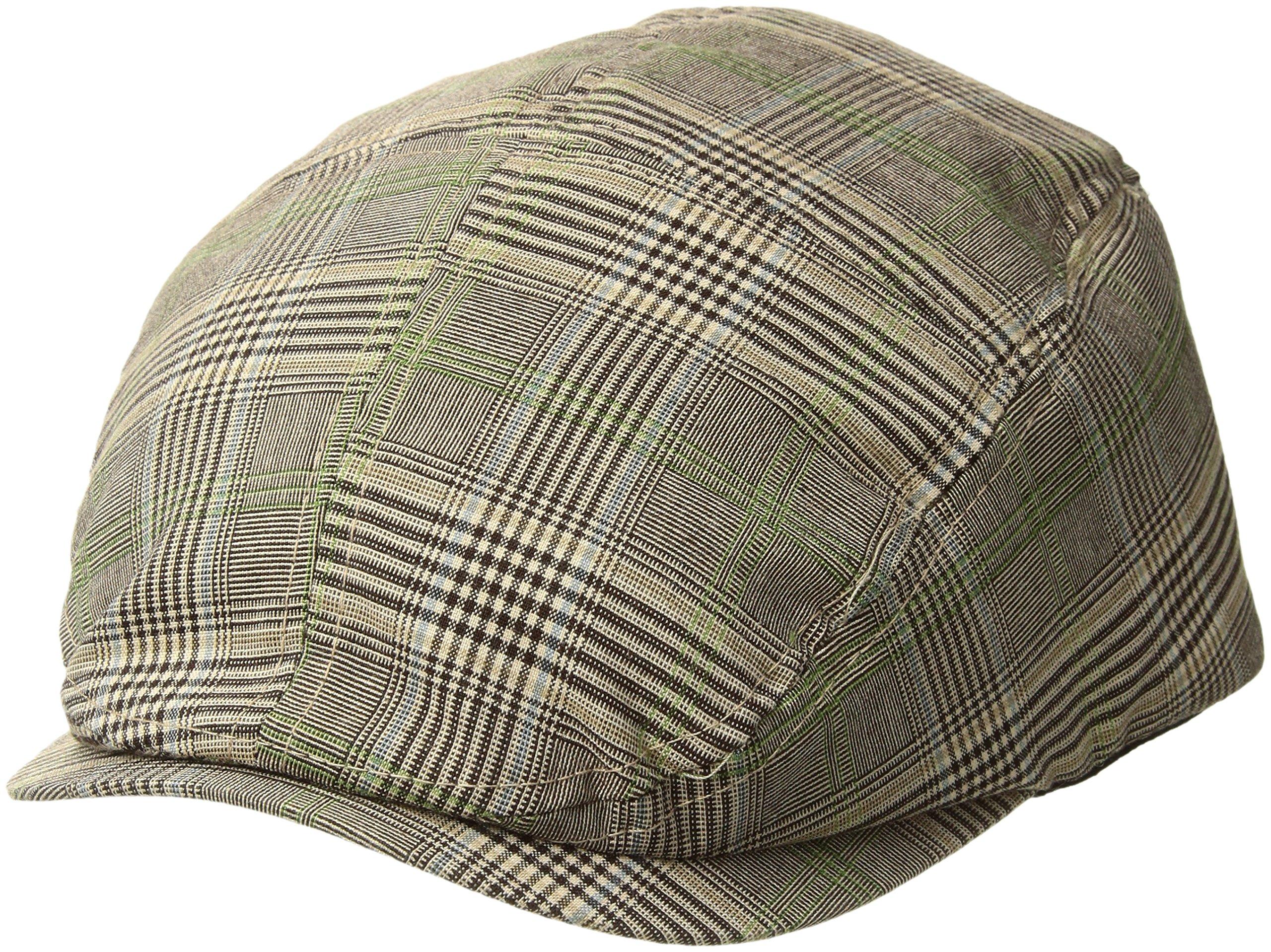 b1627818e5de8 Galleon - MG Men s Plaid Ivy Newsboy Cap Hat (Brown