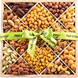 Gourmet Gift Basket, Nut Assortment Wood Tray (12 Mix) - Variety Care Package, Birthday Party Food, Holiday Arrangement…