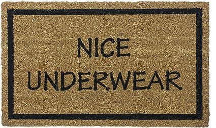 Amazon Com Entryways Non Slip Coir Doormat 17 Inch By 28 Inch Nice Underwear Garden Outdoor