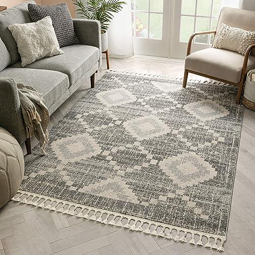 Well Woven Julia Blue Tribal Area Rug 8×10 7'10″ x 10'6″ - a good cheap living room rug