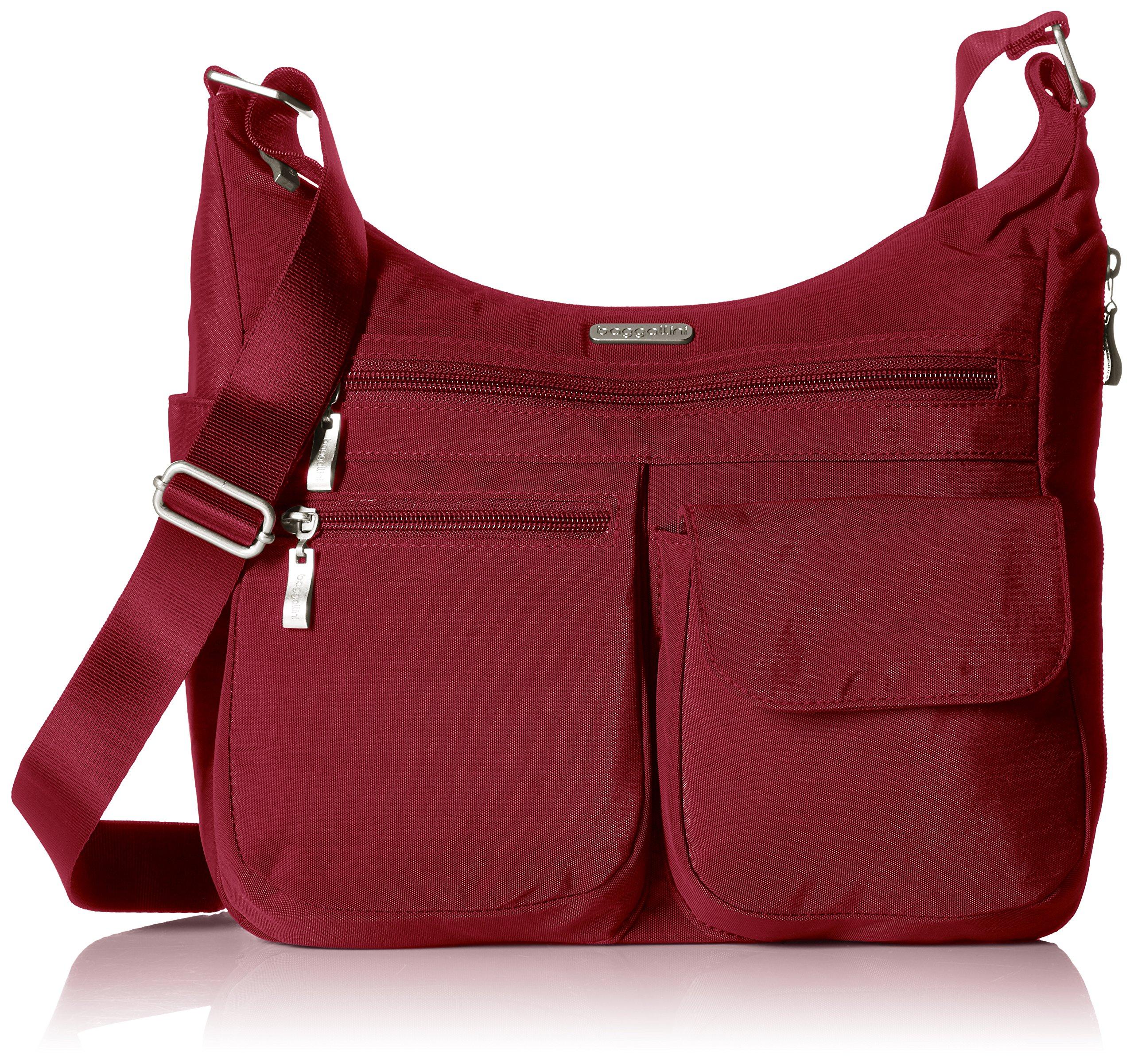 Baggallini Everywhere Travel Crossbody Bag, Apple, One Size
