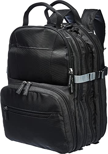 AmazonBasics Durable, Padded Tool Bag Backpack, Black – 75 Pocket