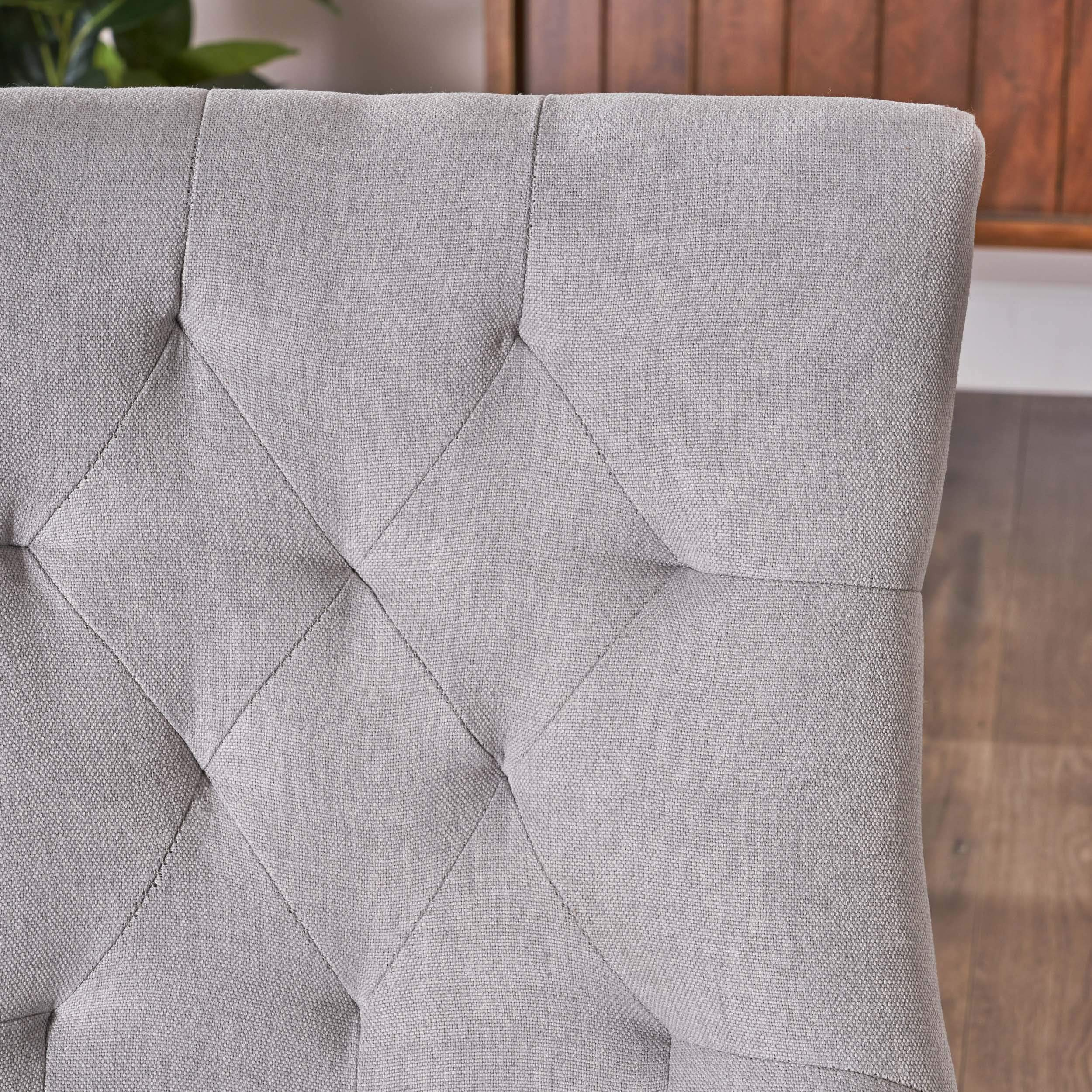 Christopher Knight Home 299538 Hayden Fabric Dining Chairs (Set of 2), Light Gray by Christopher Knight Home (Image #6)