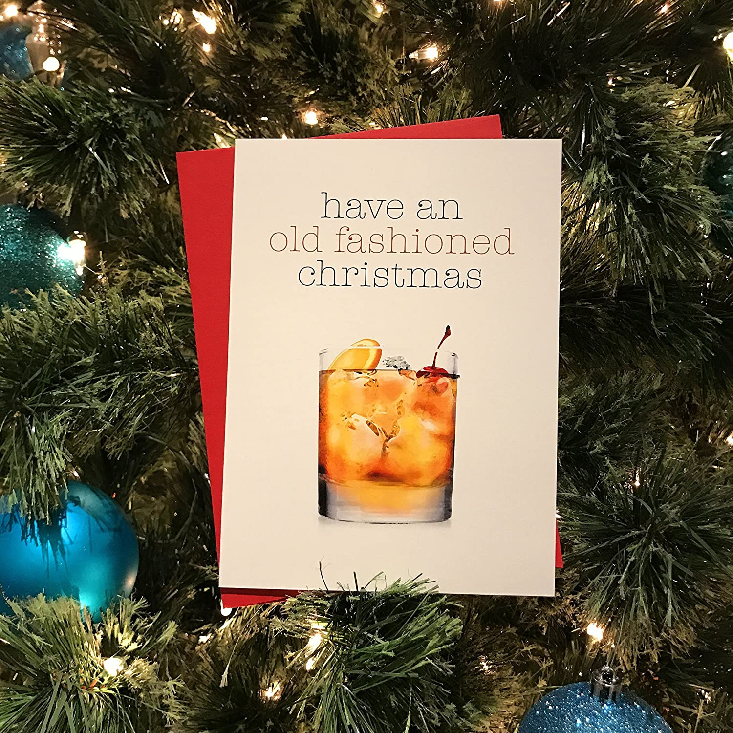 Amazon Have an old fashioned christmas Greeting Card