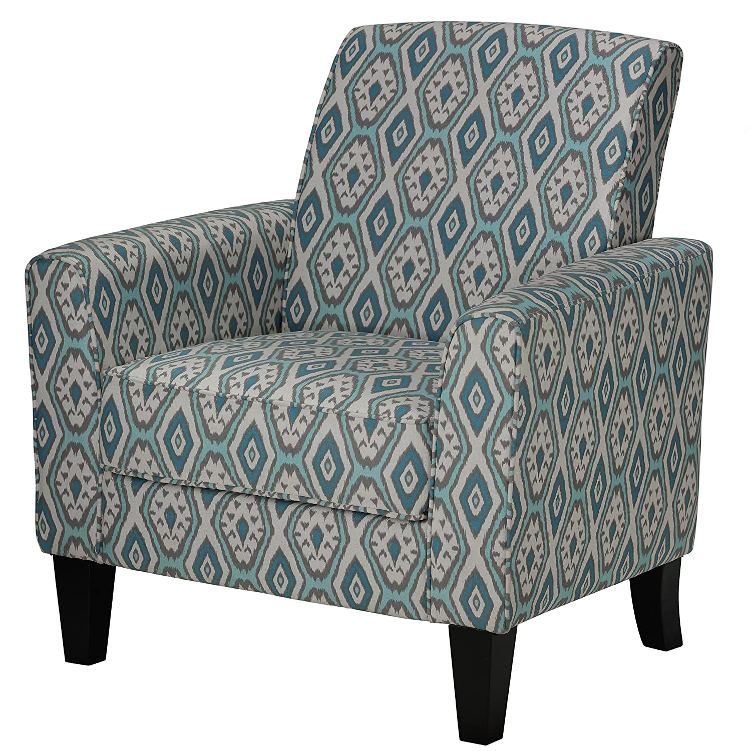 Amazon Cortesi Home Tali Blue Diamond Arm Accent Chair Home