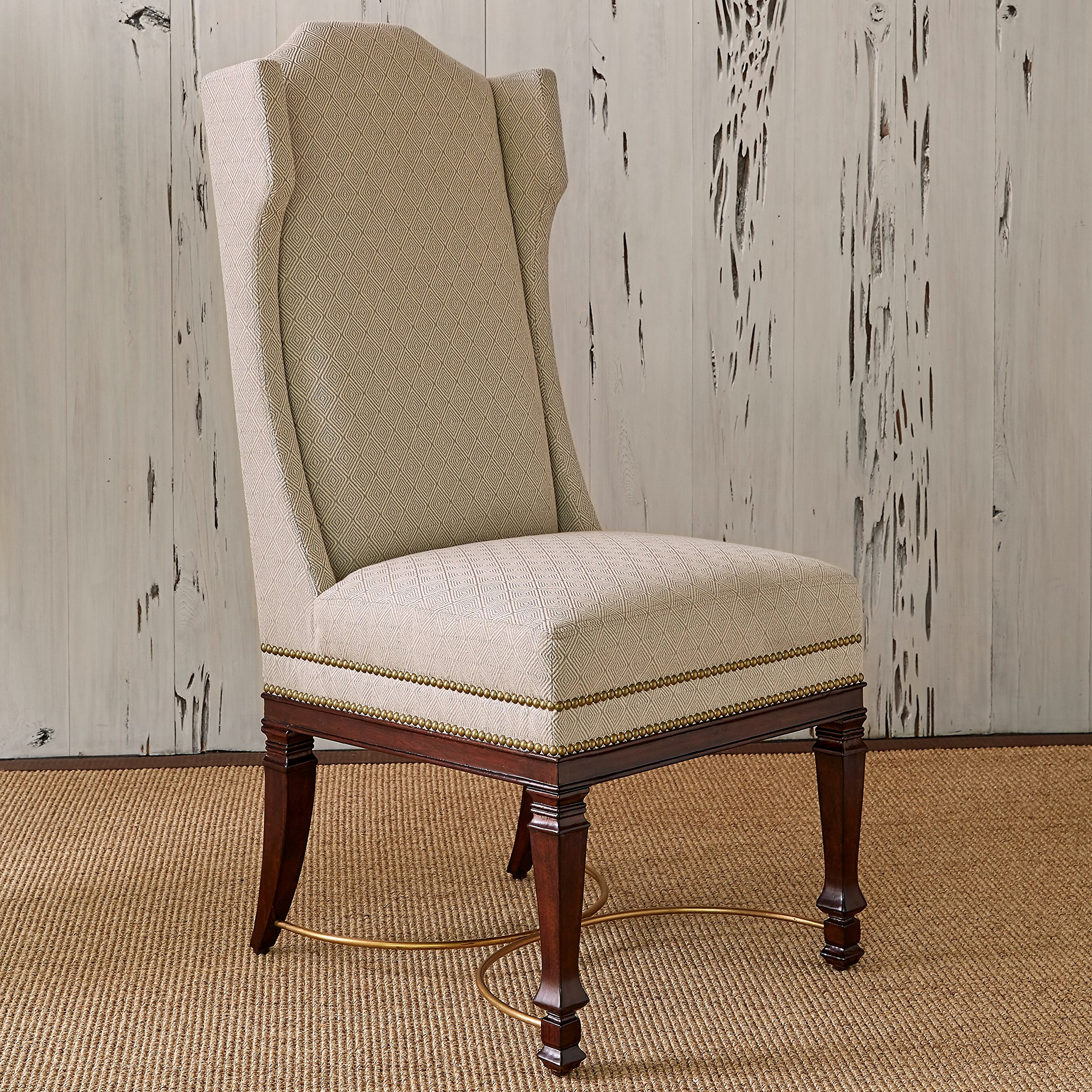Ambella Home Collections 58019-610-001 Atta Boy Flax Wing Dining Chair