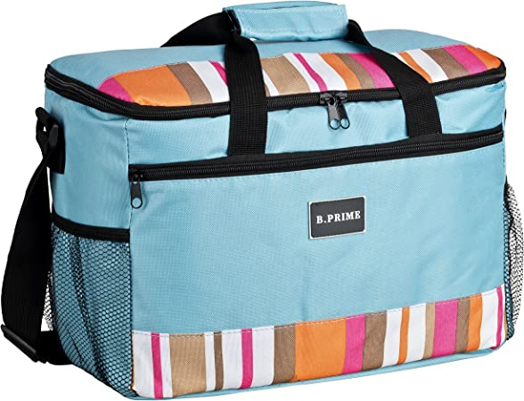 B.PRIME Classic Bolsa Nevera de 20l I 36 x 26 x 22 cm I Bolsa Aislante I Nevera para Picnic y Camping I Bolsa isotérmica para el Aire Libre I Viajes I ...