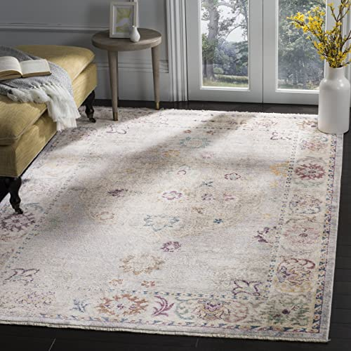 Safavieh Illusion Collection ILL708L Light Grey and Cream Area Rug 3 x 5