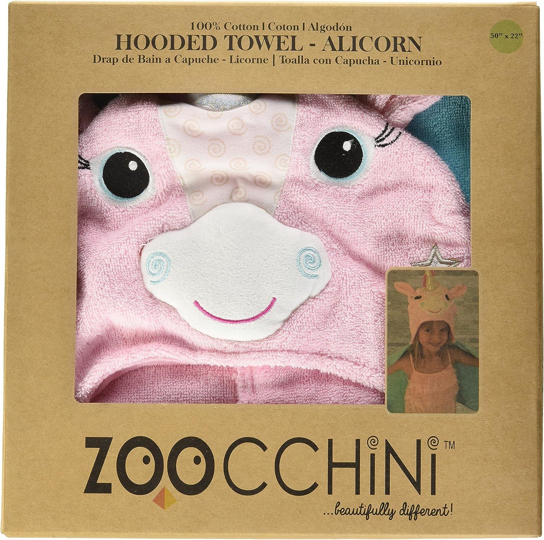 Asciugamano con Cappuccio Bimbi in Cotone Zoocchini Asciugamano con Cappuccio