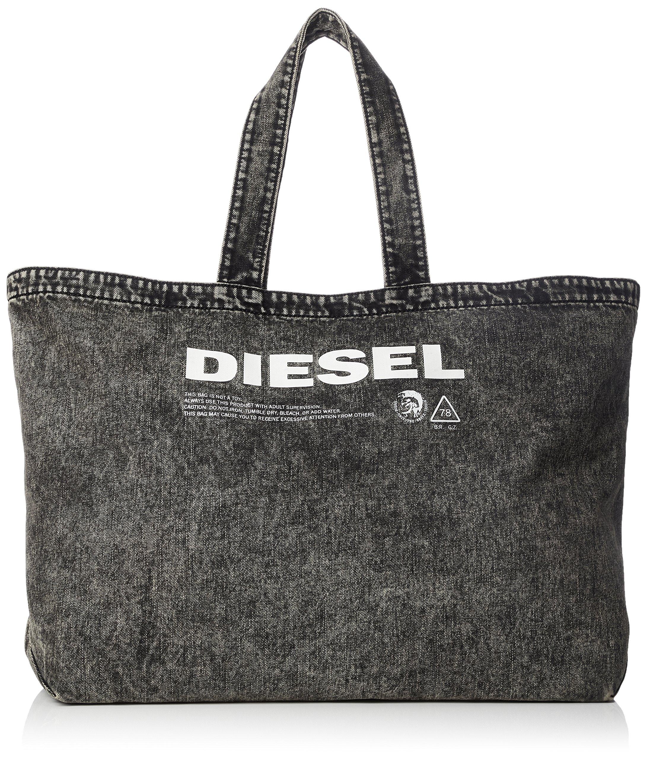 Diesel Men's THISBAGISNOTATOY D-THISBAG Shopper L-Shopping Bag, grey denim, One Size