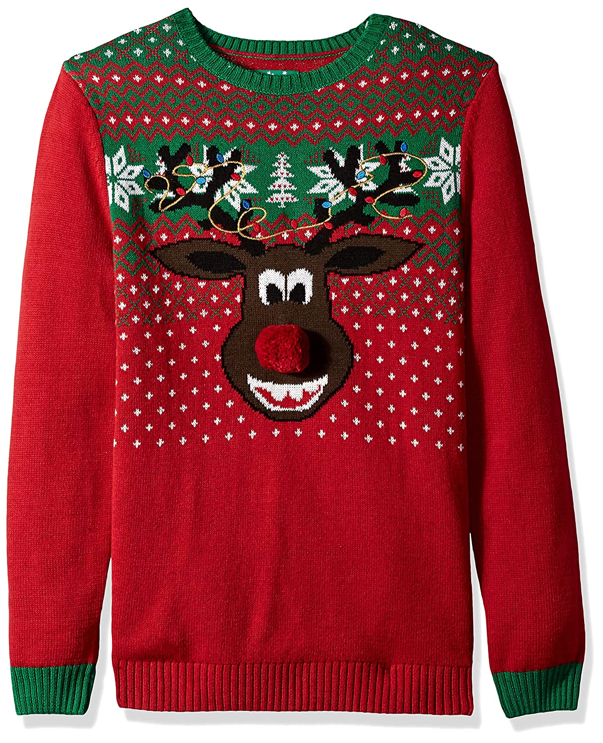 Reindeer Face Xmas Sweater SBP8-1802B 8-20 Ugly Christmas Sweater Company Boys
