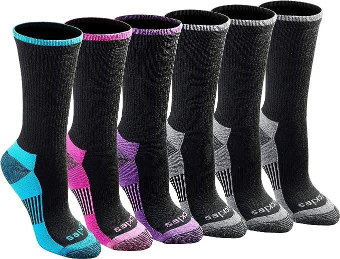 Dickies womens Dritech Advanced Moisture Wicking Crew Sock - 6/12 Pairs