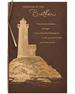 American Greetings Lighthouse Birthday Card For Brother With Foil
