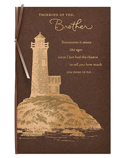 Amazon american greetings lighthouse birthday card for brother american greetings lighthouse birthday card for brother with foil m4hsunfo