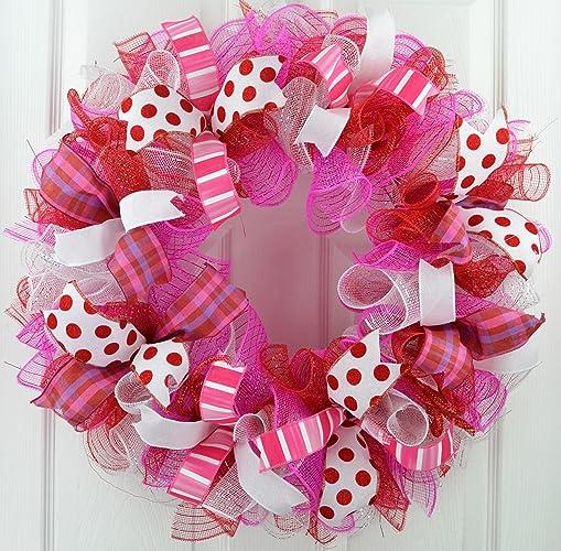 Amazon Com Valentine S Day Wreath Valentine Wreath Valentines