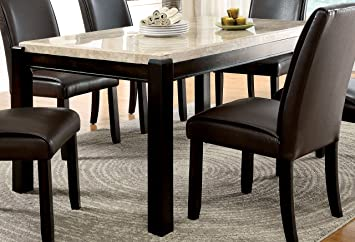 Furniture Of America Idf 3823t Minna Contemporary Marble Dining Table