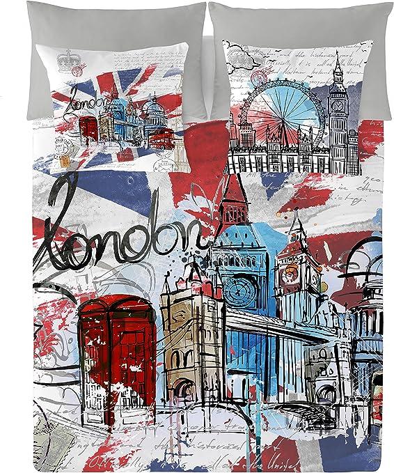 NATURALS London Graphic Funda Nórdica, Algodón, Multicolor, 135 cm ...