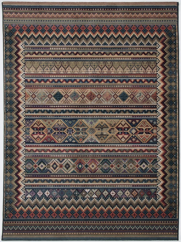 Theko Webteppich Gabiro mit Kelim Motiv, außergewöhnliche Vielfarbigkeit, Größe 160 x 235 cm