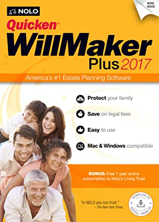 Quicken WillMaker Prime 2017 [Online Code]