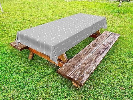 Amazoncom Lunarable Arrows Outdoor Tablecloth Retro Pattern Arrow - Triangle picnic table