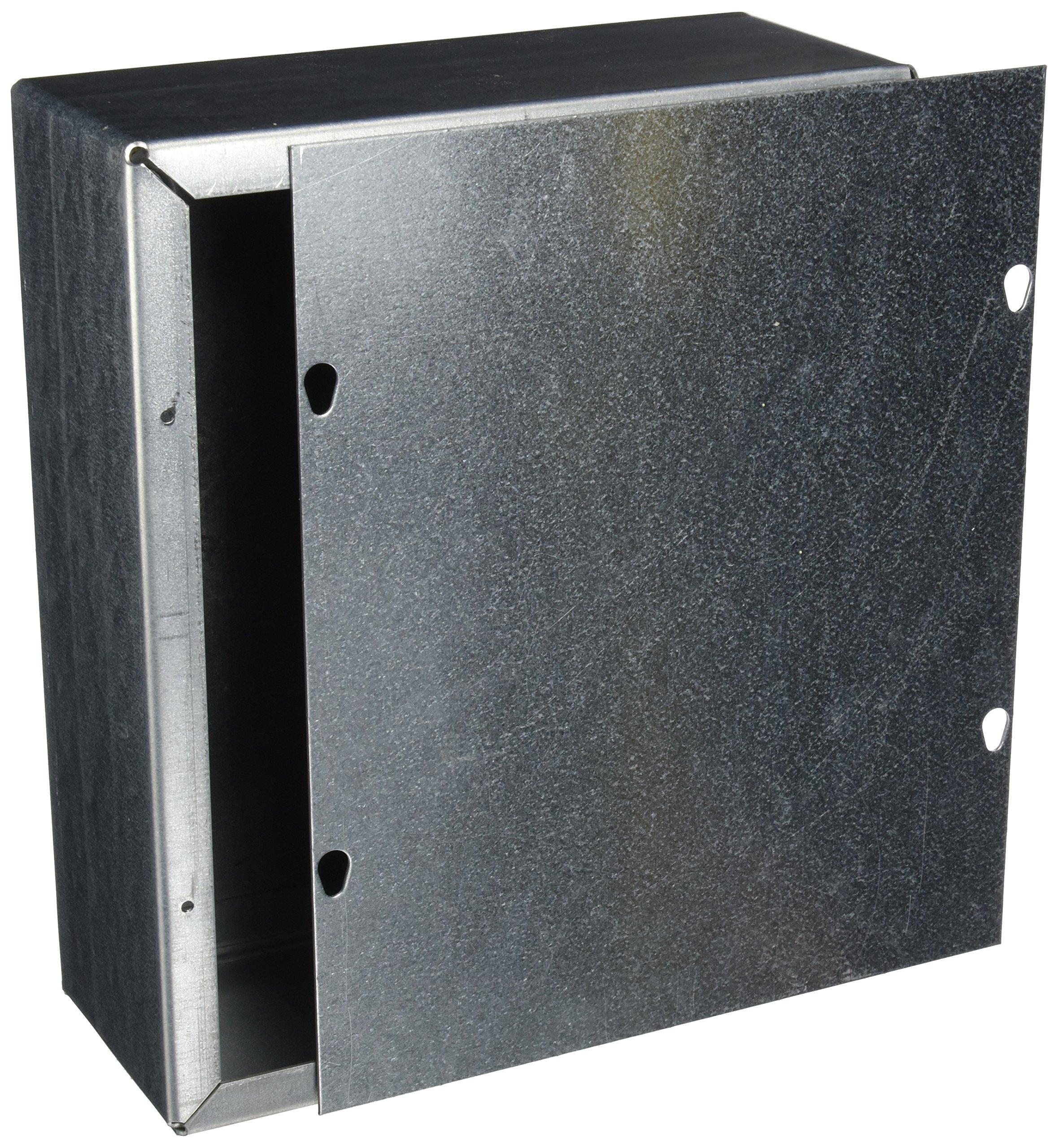 Wiegmann SC101204GNK SC-Series NEMA 1 Screw Cover Wallmount Pull Box, No Knockouts, Galvanized Steel, 12'' x 10'' x 4''