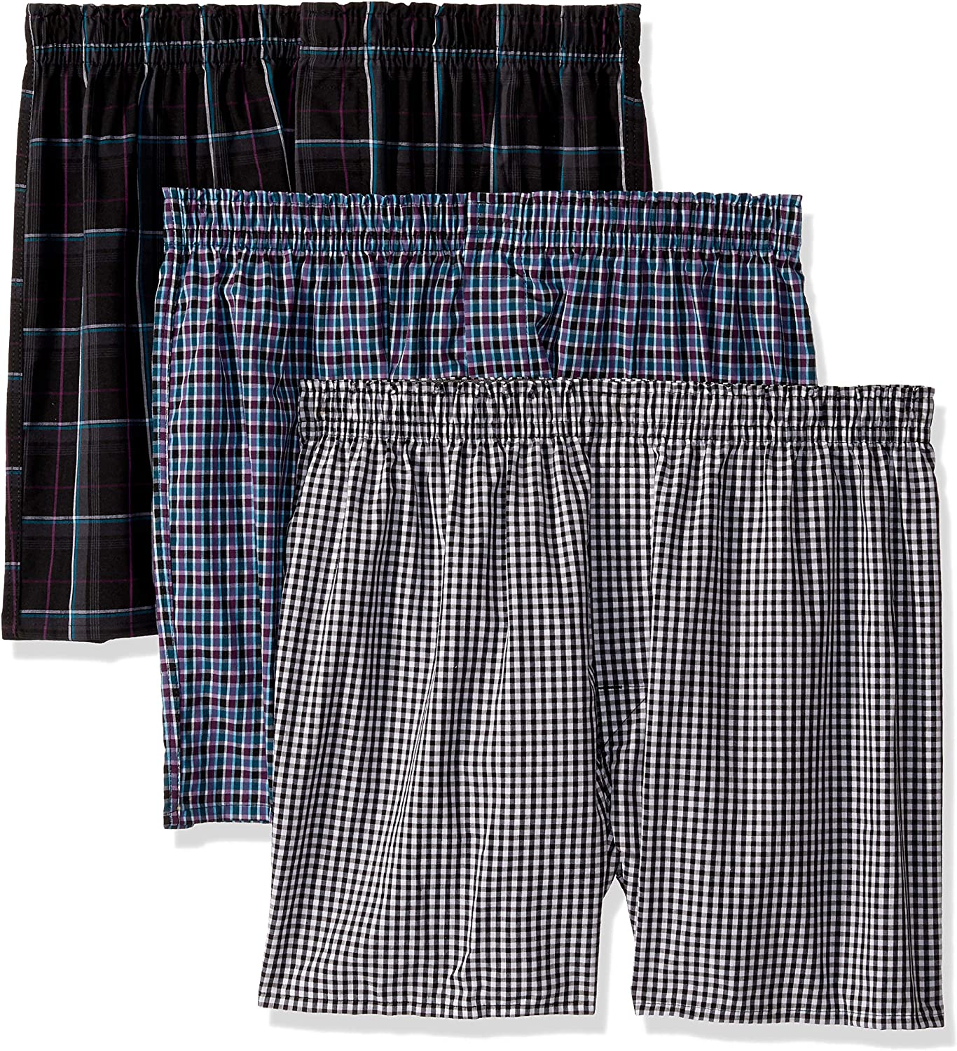 Hanes Ultimate Men's Woven Boxers Colors, Assorted