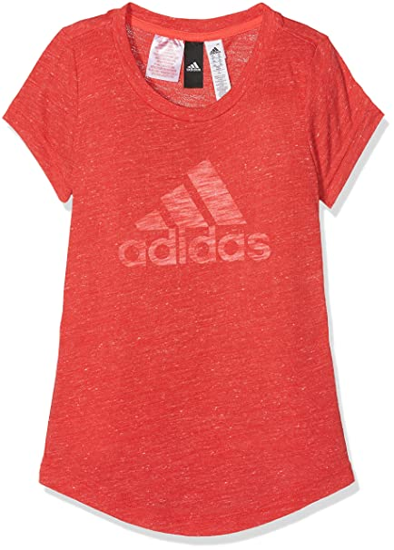 Adidas Cf6739 Camiseta, Niñas, (Rojo/Blanco), 170-14/