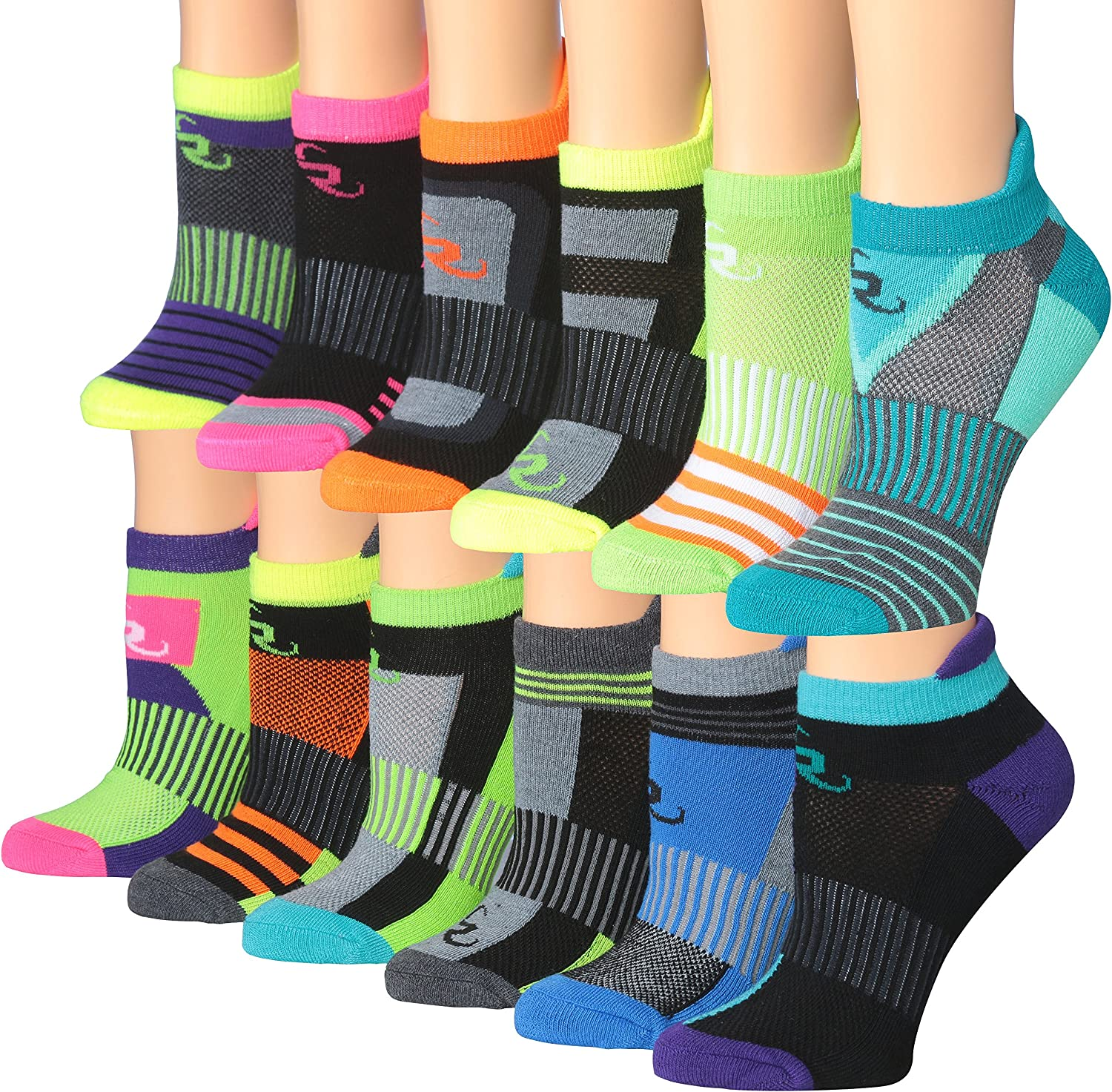 Ronnox Women's 12-Pairs Low Cut Running & Athletic Performance Tab Socks at  Women's Clothing store