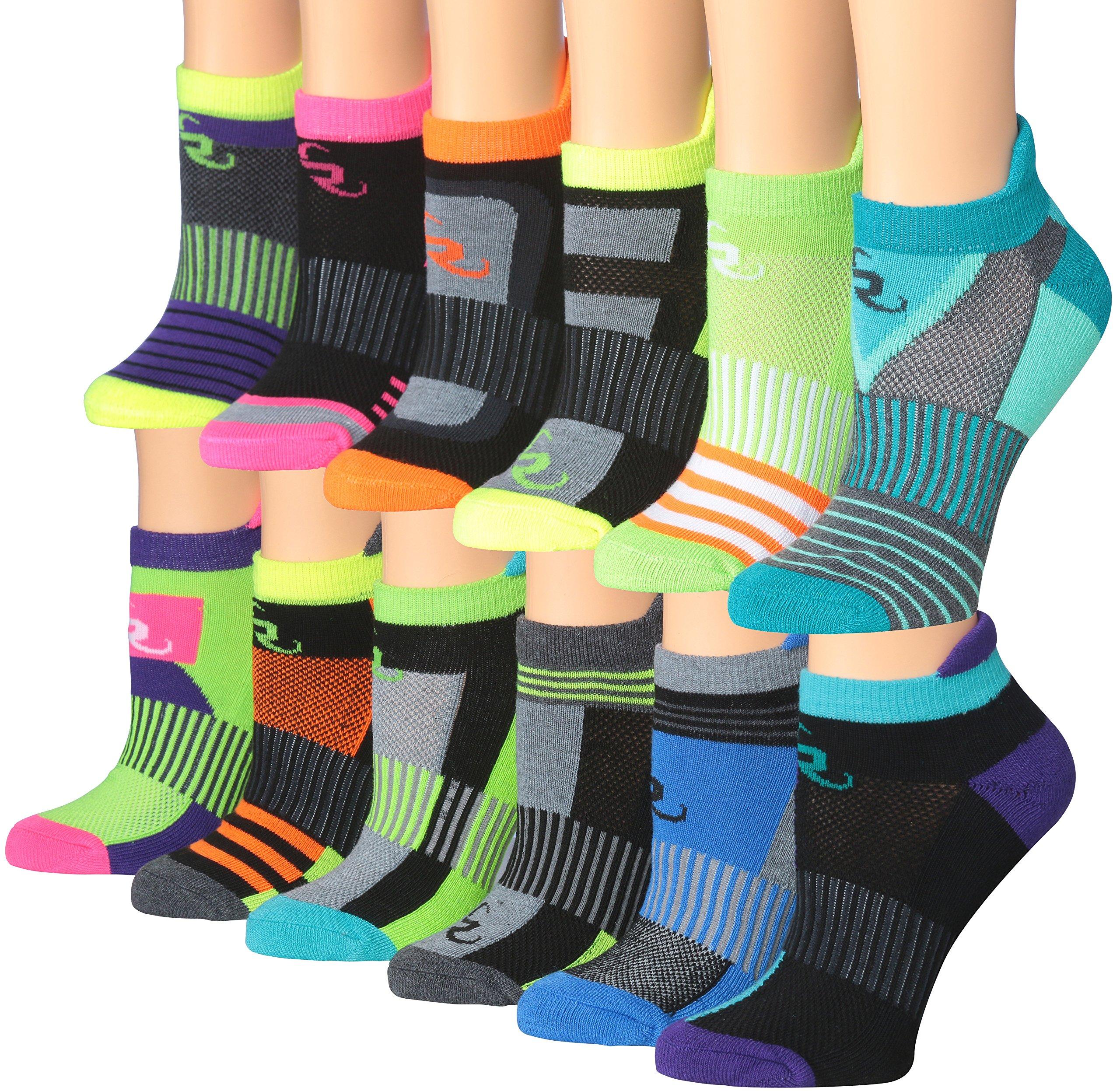 Ronnox Women's 12-Pairs Low Cut Running & Athletic Performance Tab Socks Medium/Large RLT14-AB-ML by RONNOX
