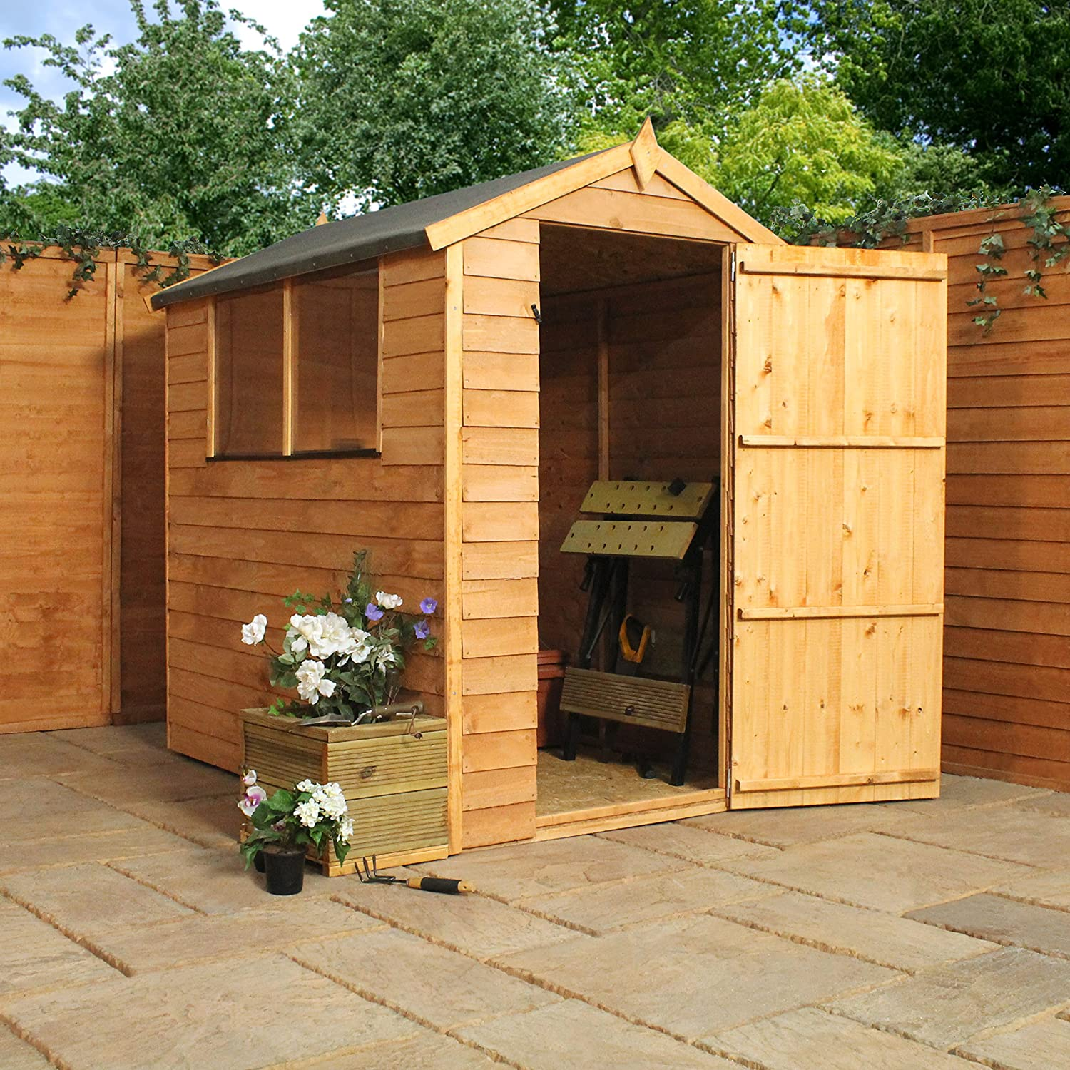 x security overlap apex garden shed tongue garden sheds