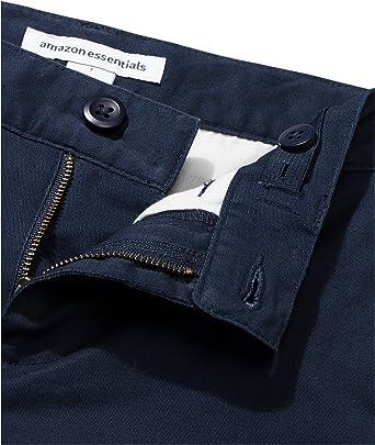 Essentials Boys Woven Flat-Front Khaki Shorts