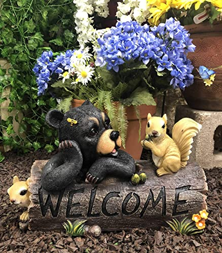 Ebros Large Whimsical Honey Bee Black Bear