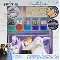 Townley Girl Frozen 2 Peel- Off Nail Polish Activity Set for Girls, Ages 3+ With 5 Nail Polish Colors, 240 Nail Gems…