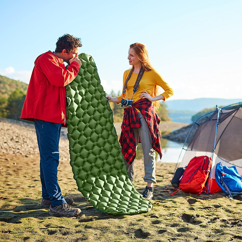 randonn/ée p/édestre et randonn/ée Ramoni Camping Portable Sleeping Pad l/éger Matelas de Camping 6-Pliant r/ésistant /à lhumidit/é Camping Pad Camping Mat pour ext/érieur Travelling