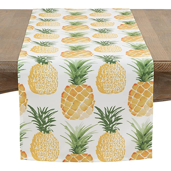 """SARO LIFESTYLE Pineapple Collection Table-Toppers, 16"""" x 72"""", Multi"""