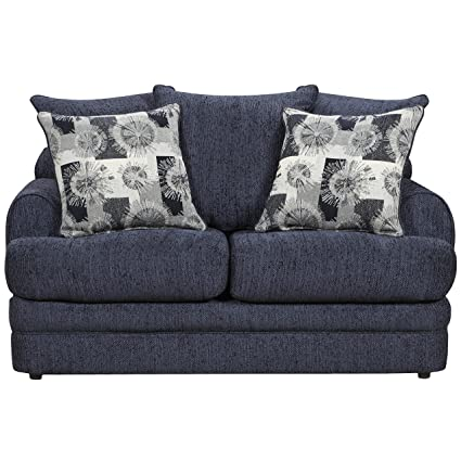 Flash Furniture Exceptional Designs By Flash Caliber Navy Chenille Loveseat