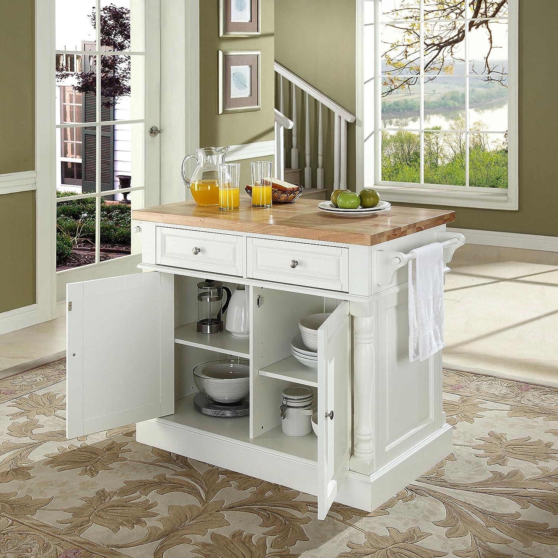 Amazon Crosley Furniture Kitchen Island with Butcher Block