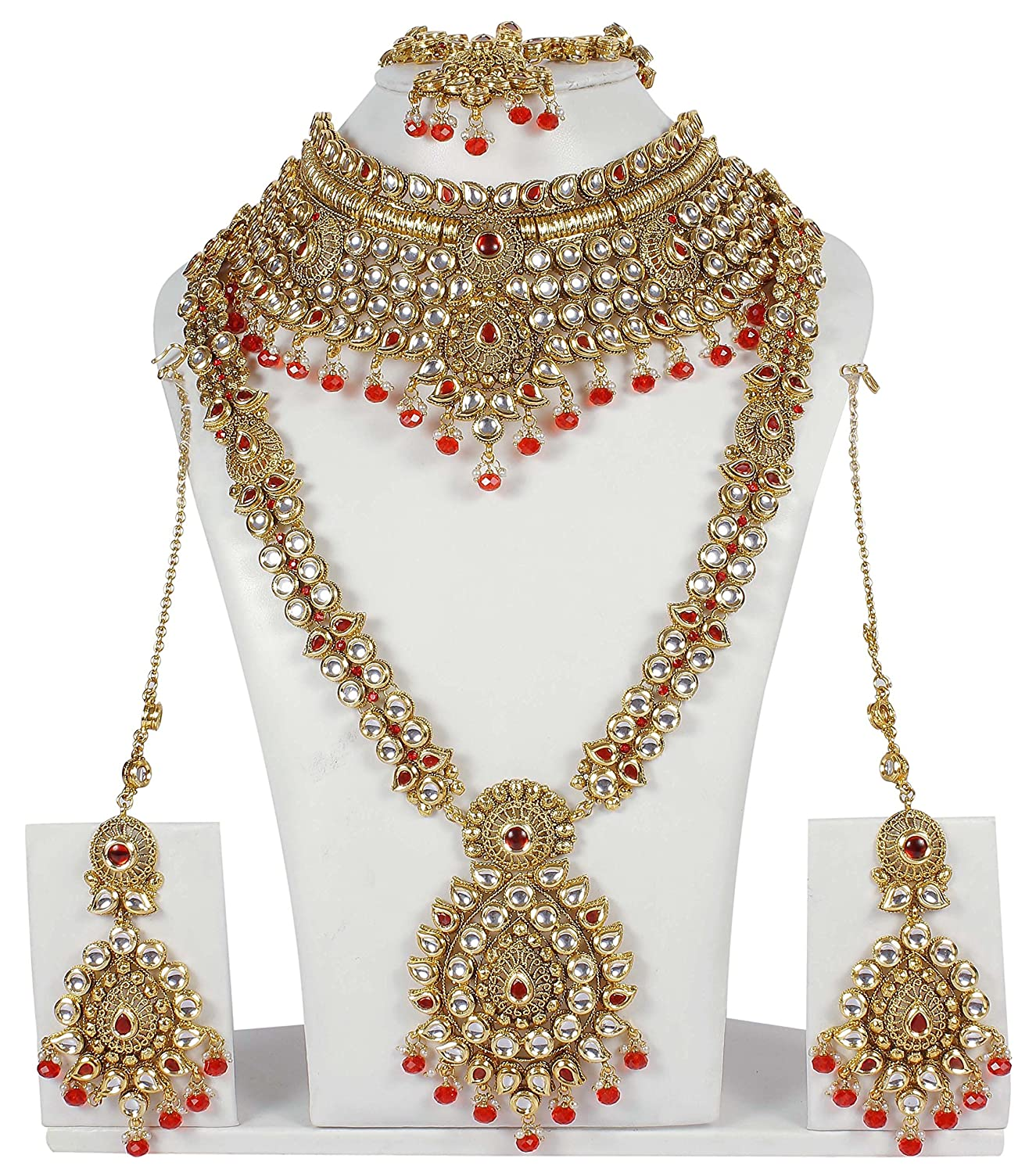 p fashion s costume plated style stone vintage chain gold set red antique women burgundy necklace htm and diamante earring jewellery bead crystal