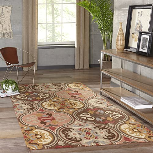 Momeni Rugs Tangier Collection, 100 Wool Hand Tufted Tip Sheared Transitional Area Rug, 2 3 x 8 3 Runner, Multicolor