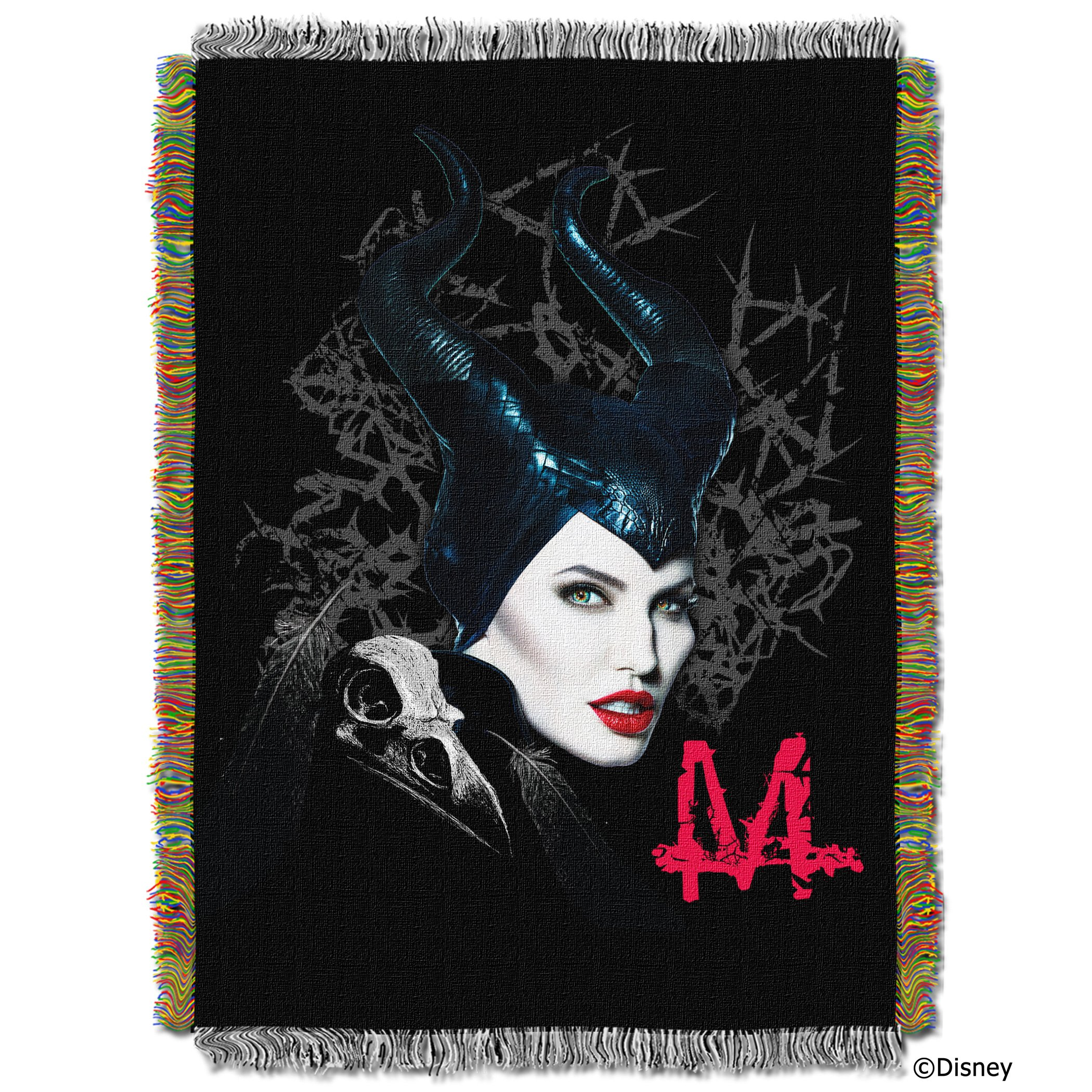 Disney's Maleficent, ''Dark Queen'' Woven Tapestry Throw Blanket, 48'' x 60'', Multi Color by The Northwest Company