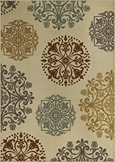 product image for Maples Rugs 5 x 7 Non Slip Large Area Rugs [Made in USA] for Living Room, Bedroom, and Dining Room, Multi