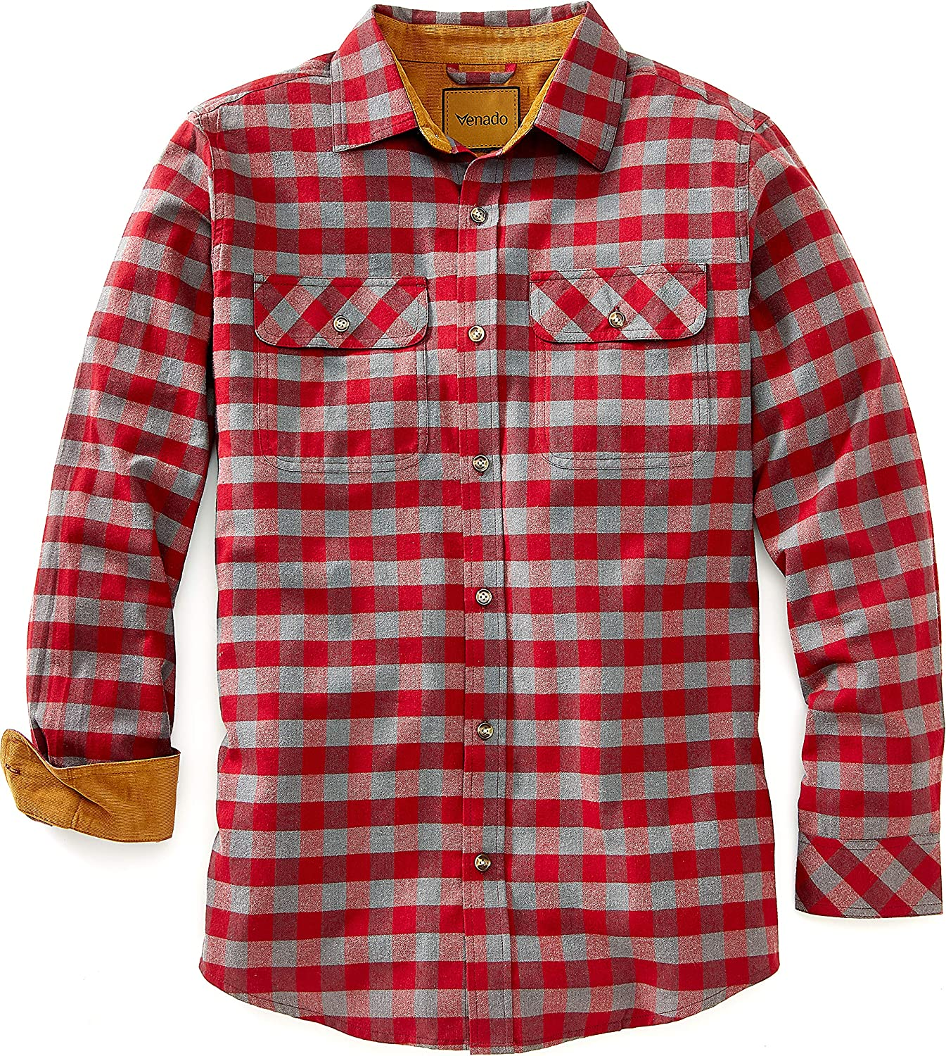 Venado Flannel Shirt for Men - Mens Flannel Plaid Shirt with Full Reach Gusset