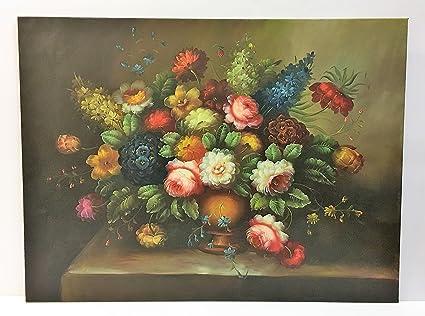 Daniele Farinella Dipinto ad olio orizzontale,soggetto Vaso di Fiori ...