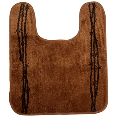 HiEnd Accents Chocolate Acrylic U-Shaped Barbwire Contour Rug