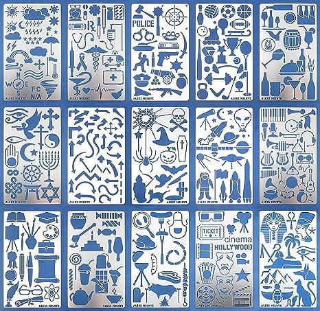 Amazon De Aleks Melnyk 47 Schablonen Metall Stencils Vorlagen