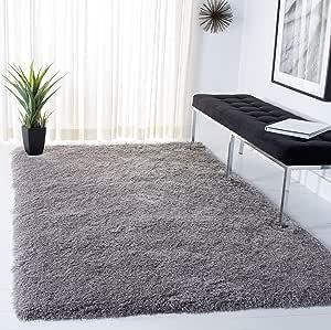 Safavieh Venice Shag Collection Sg256s Handmade Glam 3 Inch Extra Thick Area Rug 5 X 7 Silver Furniture Decor Amazon Com